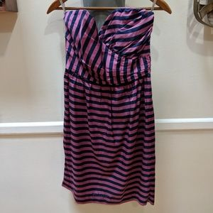 Anthropologie coreylynncalter navy and pink dress